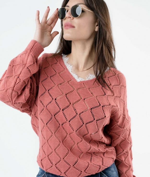 SWEATER ALODI - CORAL