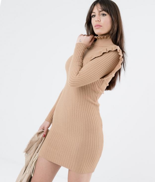 DRESS GUERNIA - CAMEL