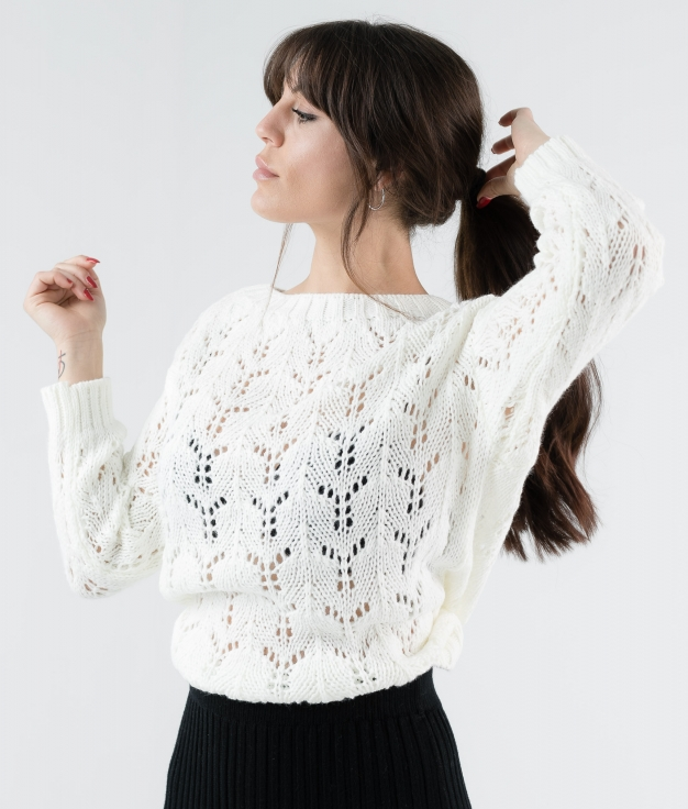 SWEATER AREVA - WHITE