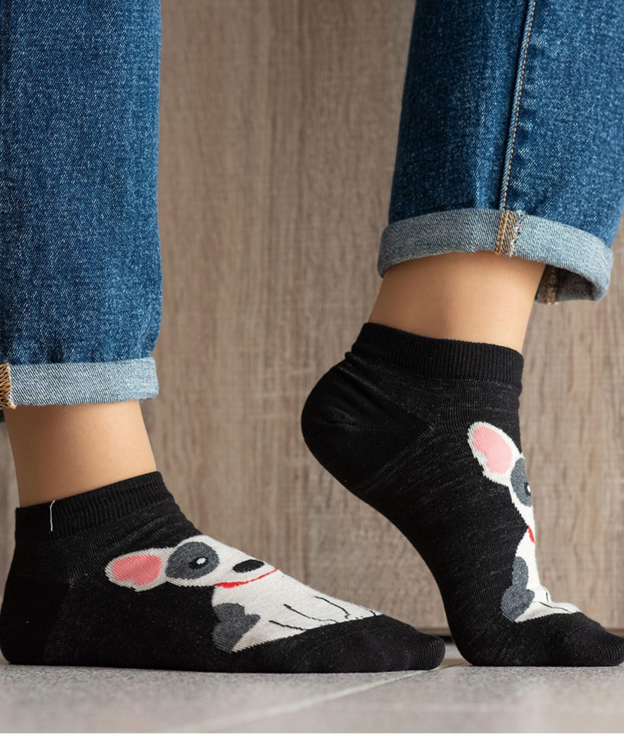 Sock Corto Kylie - Perro Black
