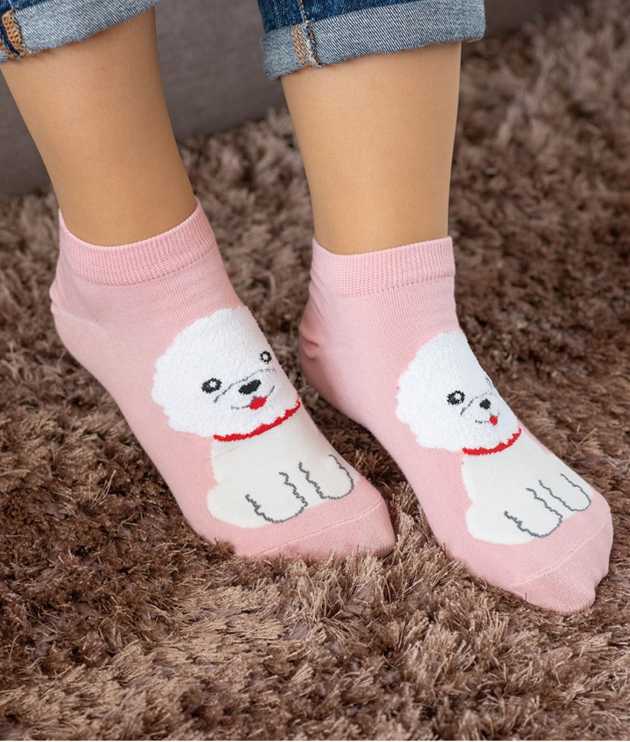 Sock Corto Kylie - Perro Pink