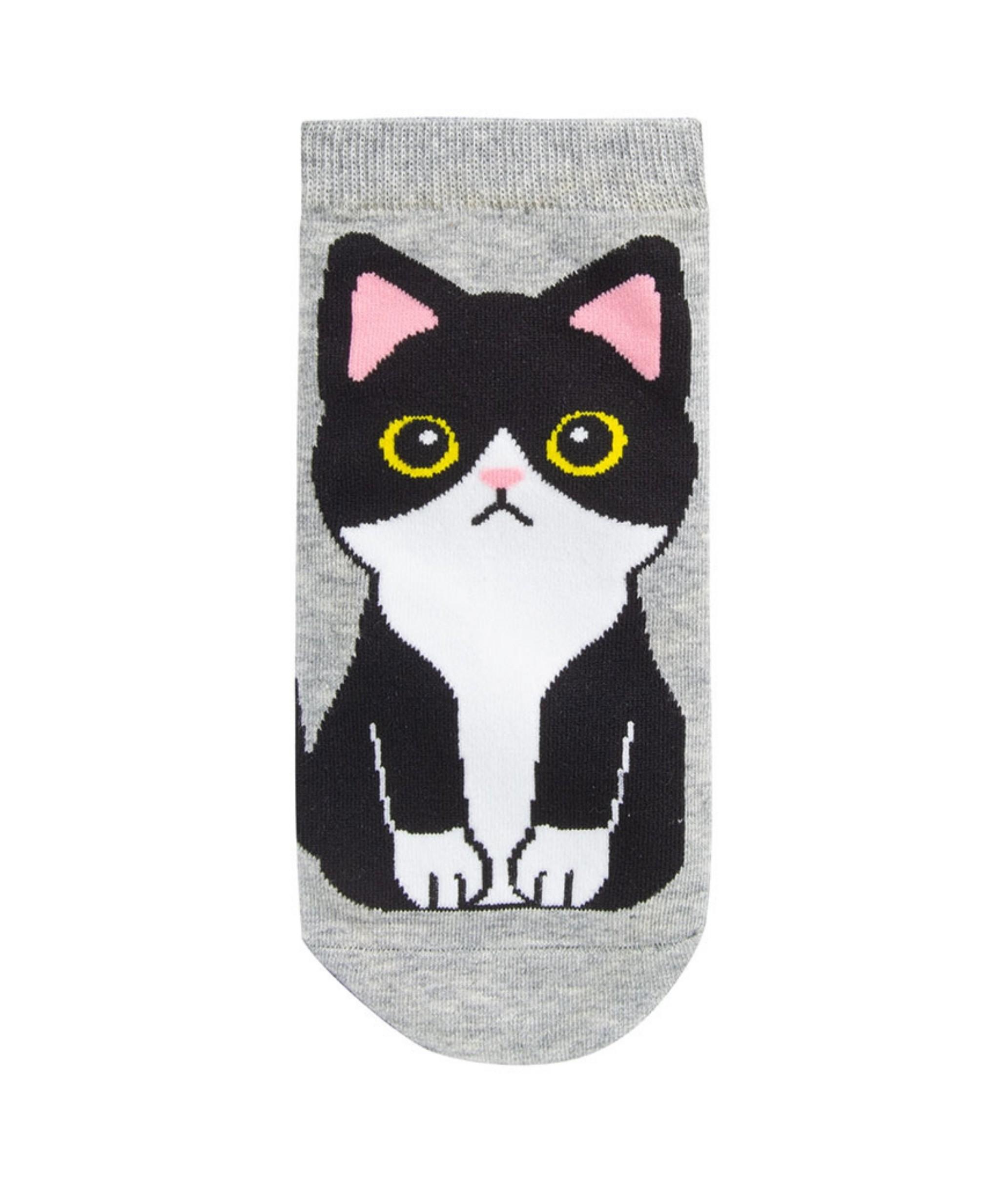 Sock Corto Kylie - Gato Gris