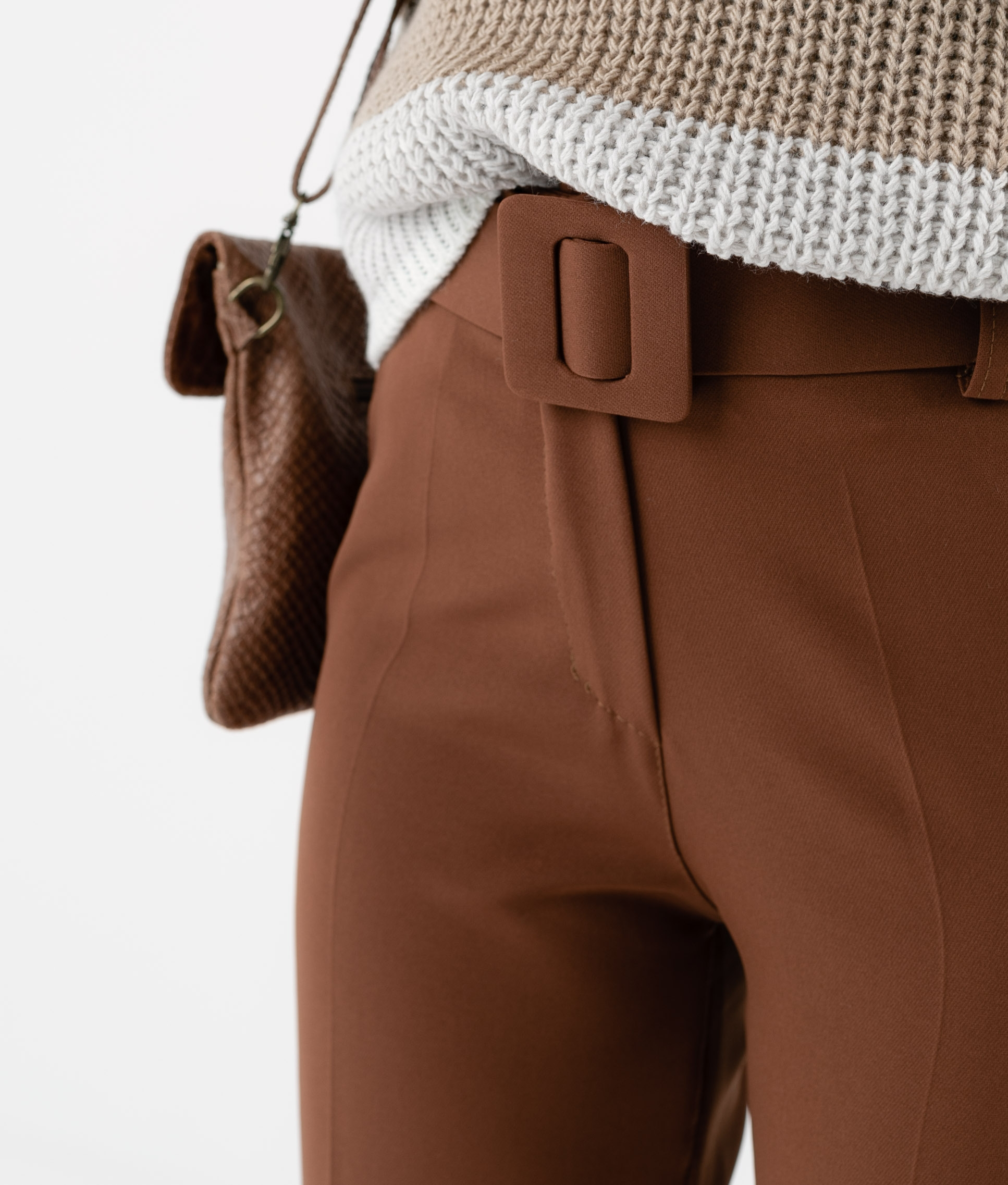 TROUSERS YUE - CAMEL