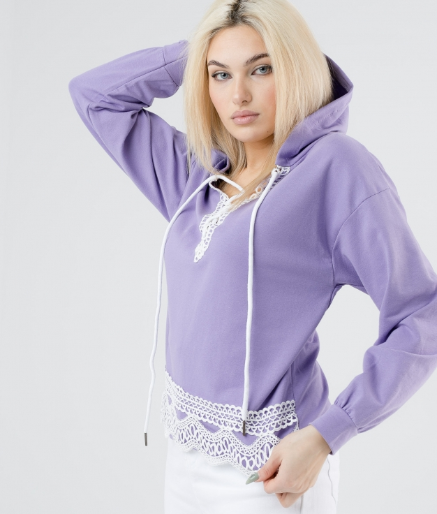 SWEATSHIRT AINES - PURPLE