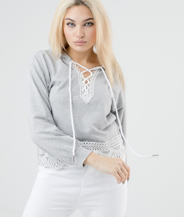 SWEAT AINES - GRIS