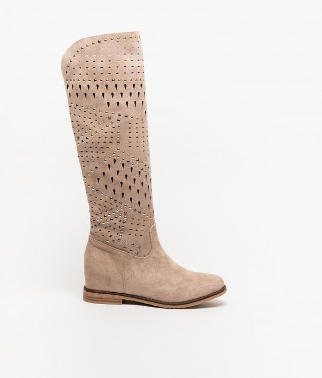 Knee-length Boot Condir - Beige