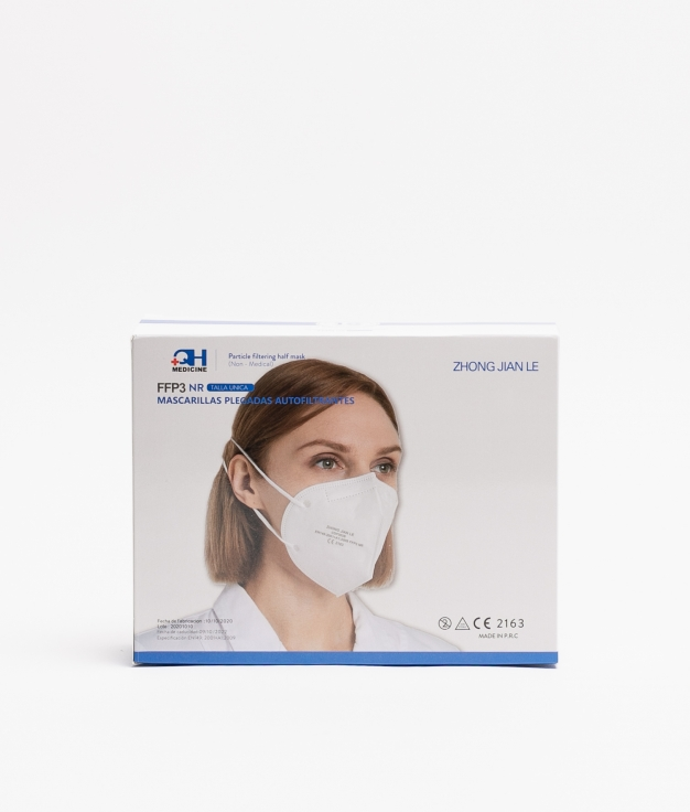 PACK 10 MASCARILLAS FFP3 ADULTO - WHITE