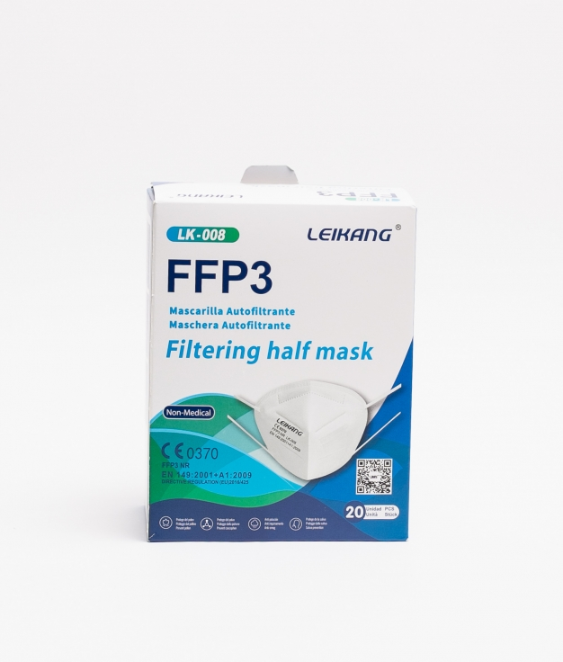 PACK 20 MASCARILLAS FFP3 ADULTO - WHITE