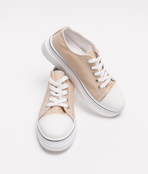 Sneakers Plum - Beige