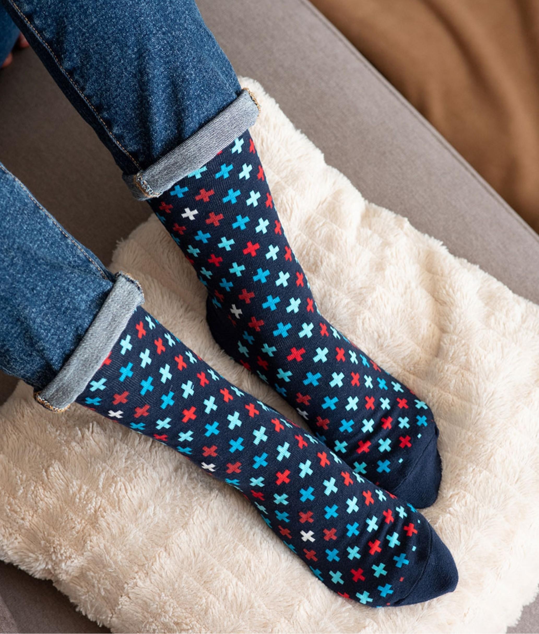 Sock Alto Kylie - Cruces Azul
