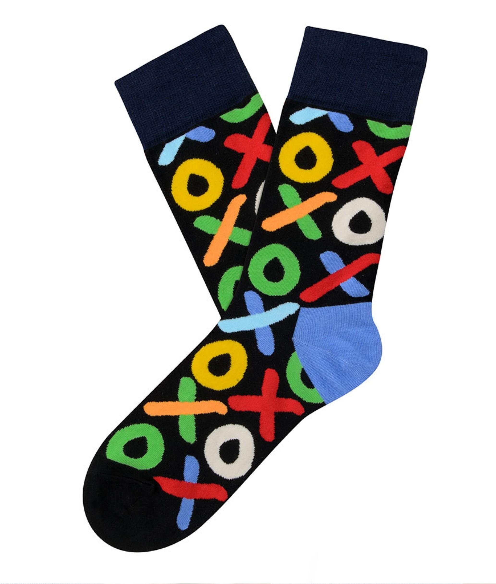 Sock Alto Kylie - XO-XO Negro