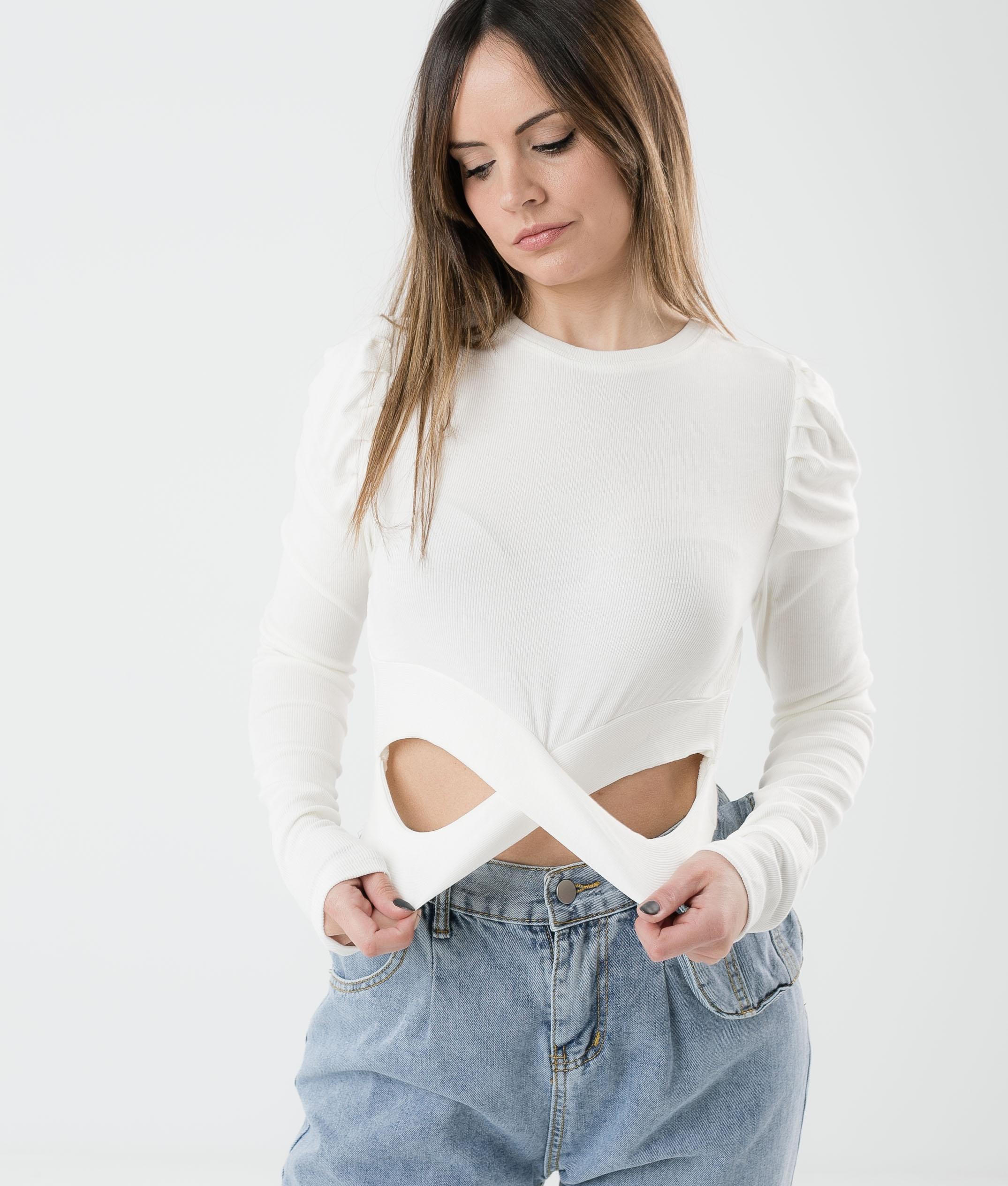 TOP MIBREL - WHITE