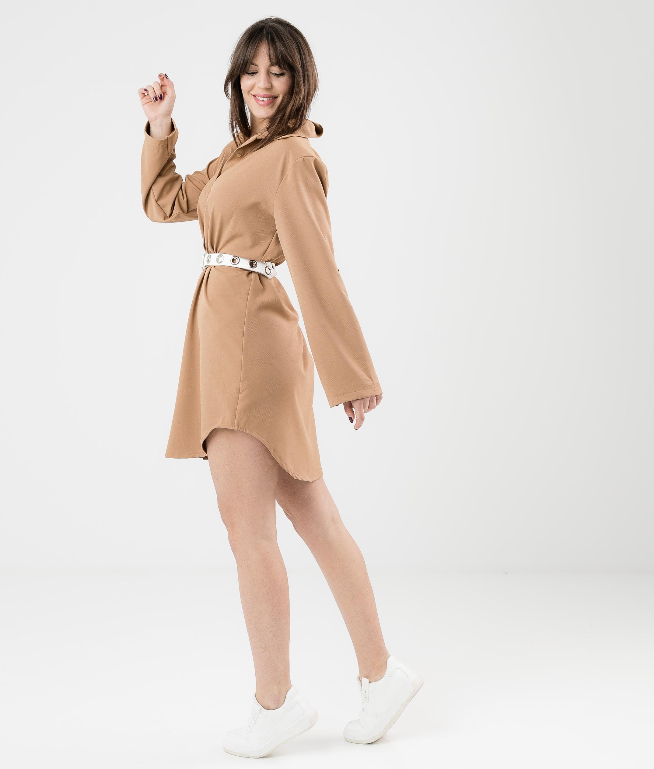 RIVEL DRESS - CAMEL