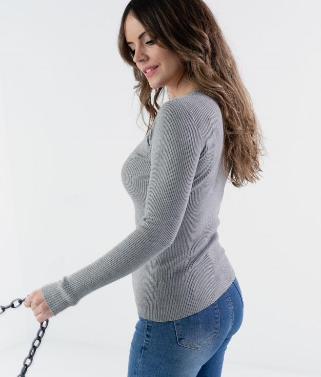 MAGLIA TIRPLE - GRIGIO