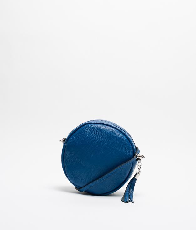 Bandolera de Piel Sole - Azul