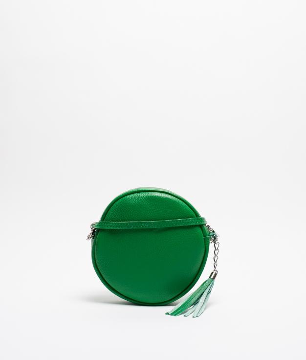 Bandolera de Piel Sole - Verde