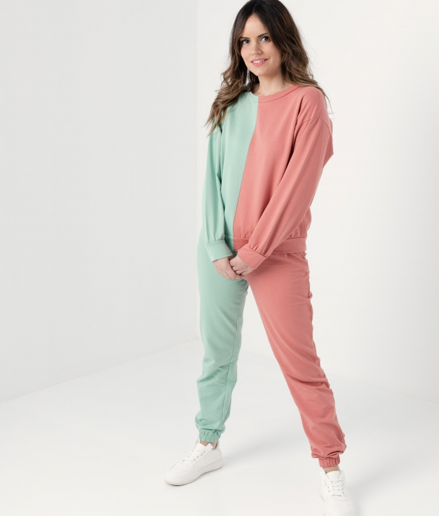 DUOLI OUTFIT - CORAL/GREEN