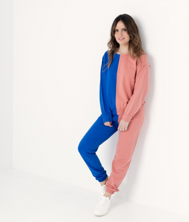 DUOLI OUTFIT - CORAL/KLEIN BLUE