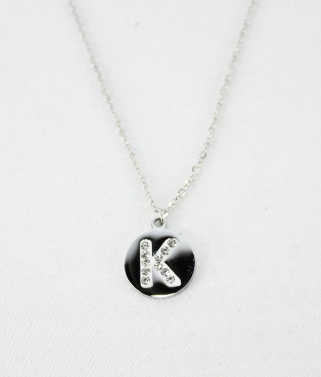"NECKLACE LETRA ""K"" - SILVER"
