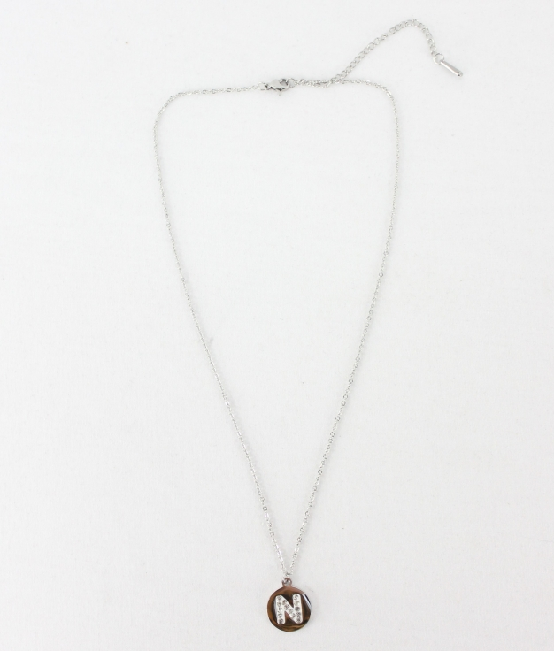 "COLLIER LETRA ""N"" - ARGENT"