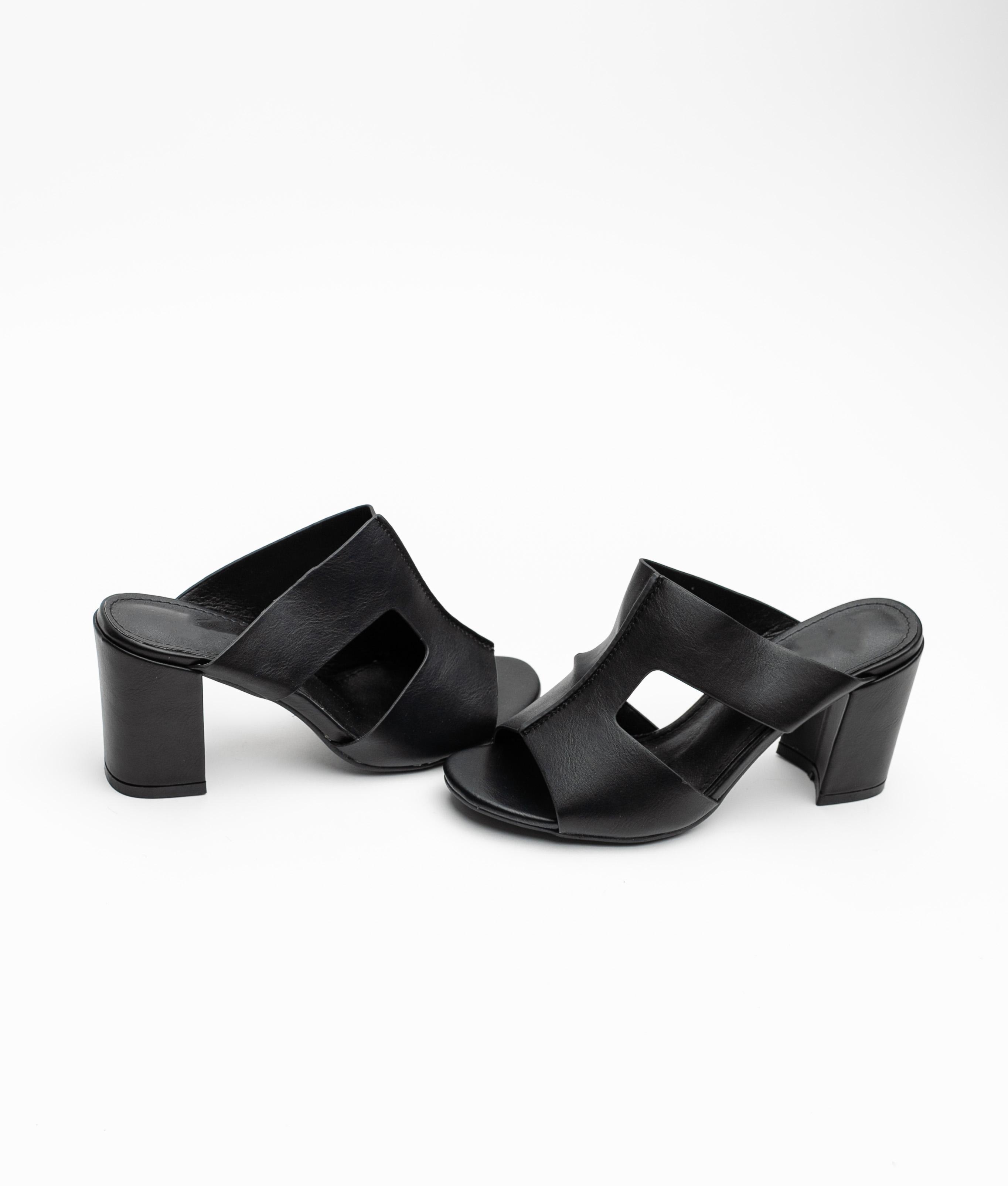 High Sandal Narbe - Black
