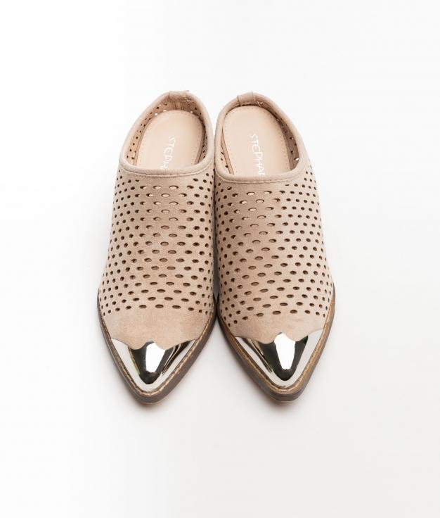 Sandalia de tacón Bember - Beige