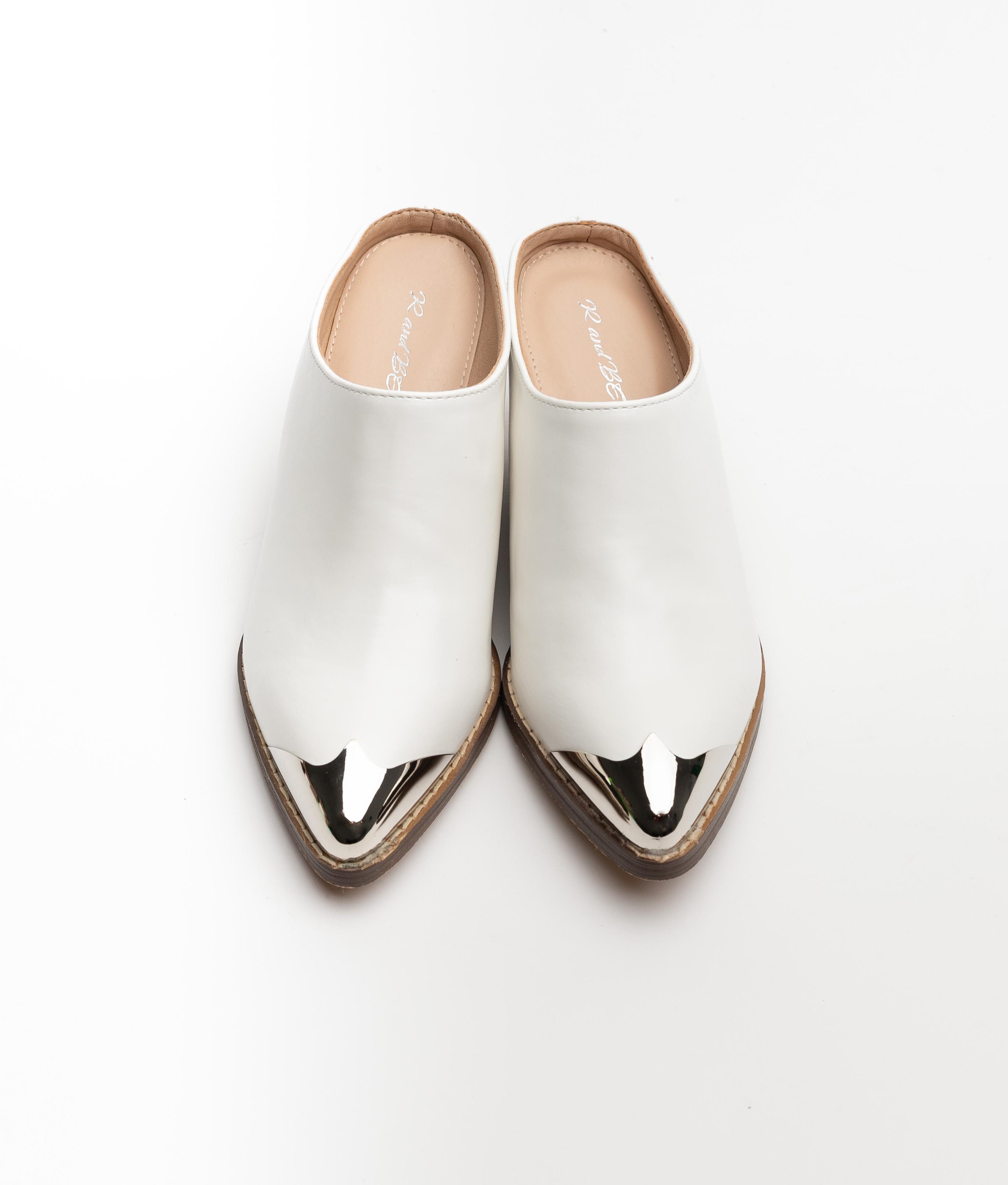 Sandalia de tacón Munkes - White