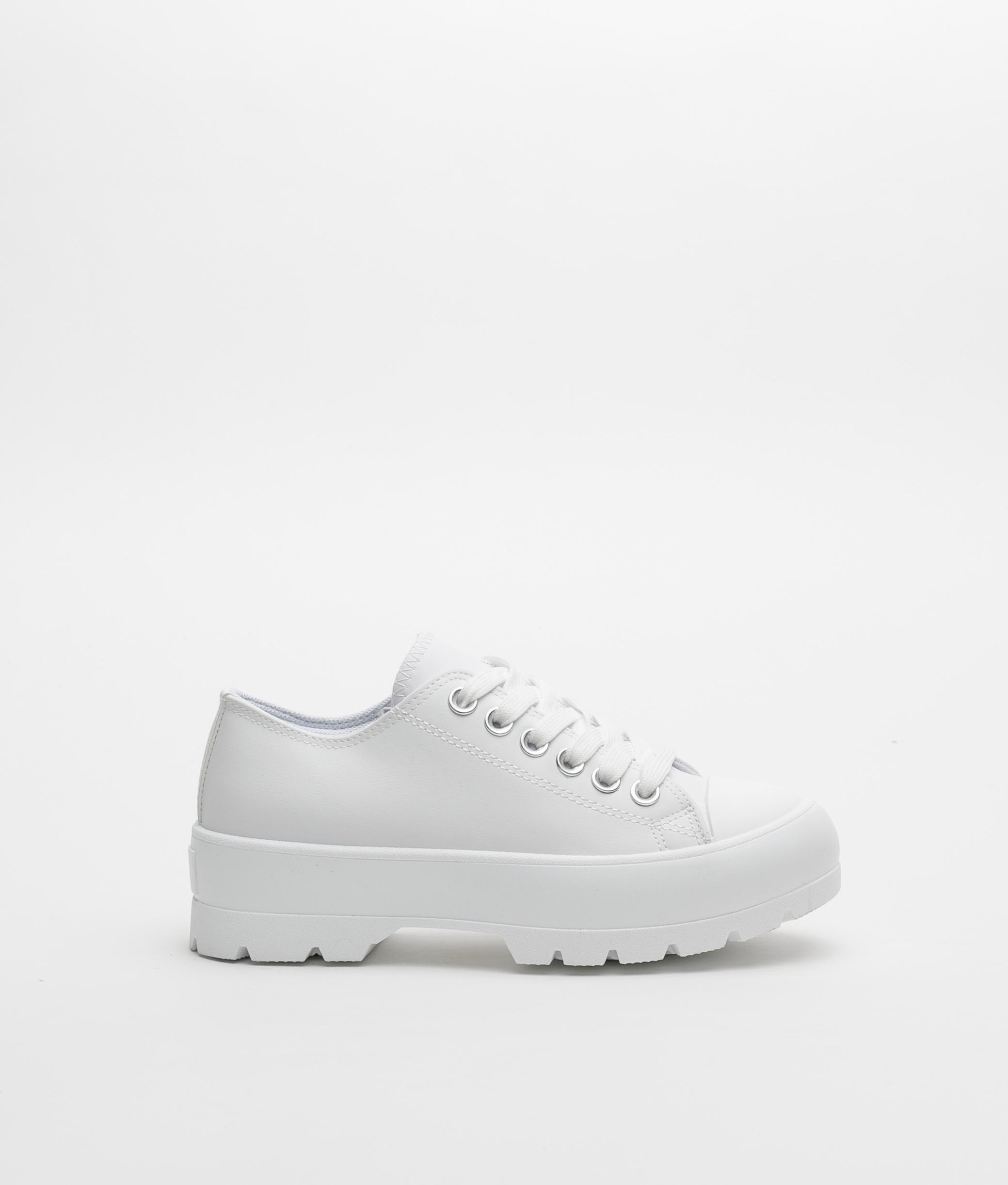 Sneakers CARET - BLANC POLIPIEL