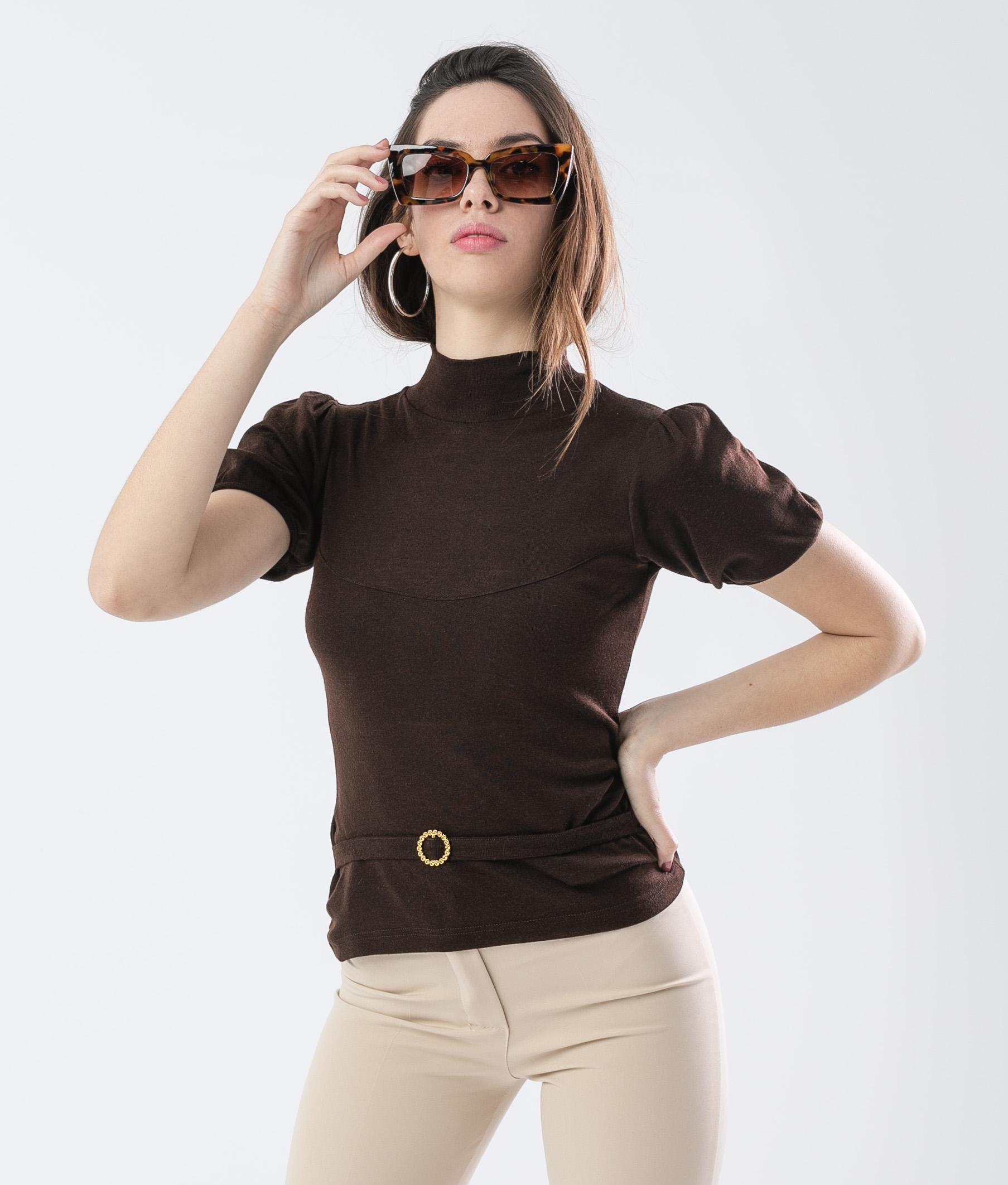 VINCA T-SHIRT - BROWN