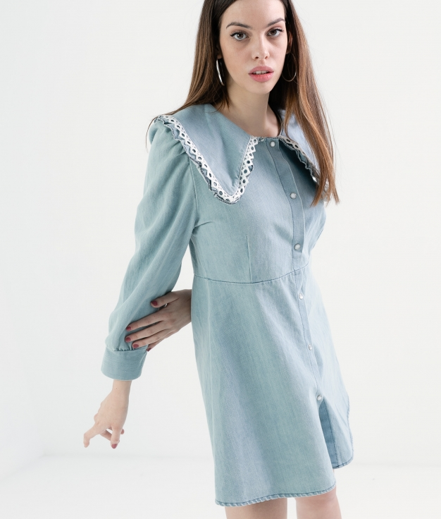 VESTIDO SIRREL - DENIM CLARO