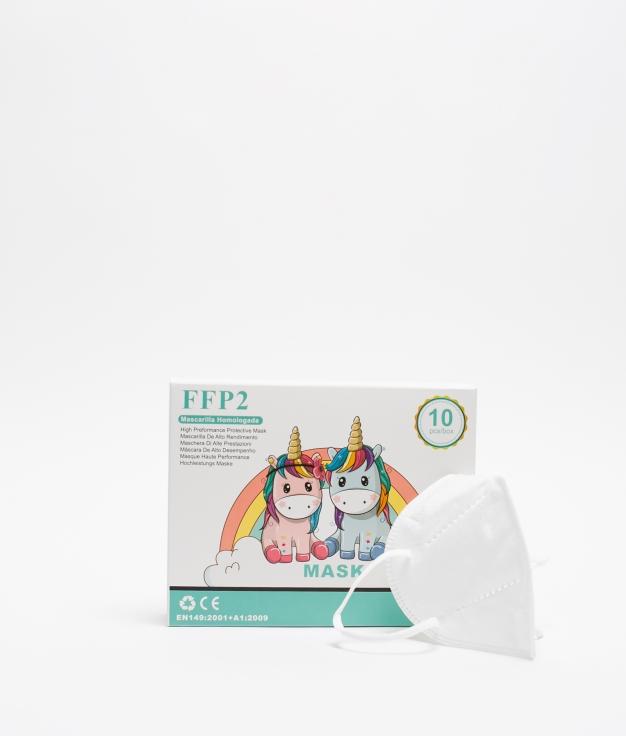 PACK 10 MASCARILLAS FFP2 INFANTILES - BLANCO