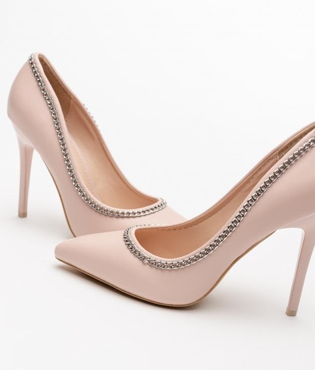 Zapato de Tacón Chanin - BEIGE