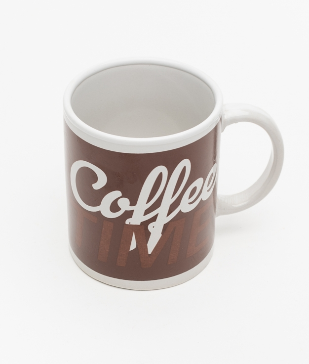 TAZA FEME COFFEE TIME - MARROM