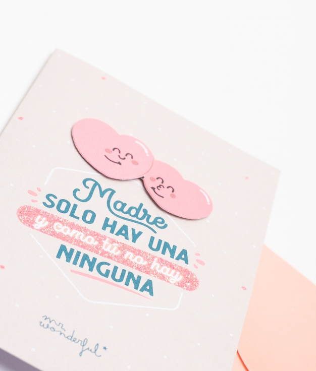 POSTAL MR WONDERFUL - MADRE SOLO HAY UNA
