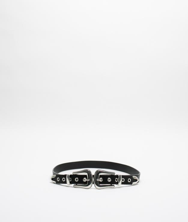 Cinturón ROTIN - Negro/Plata