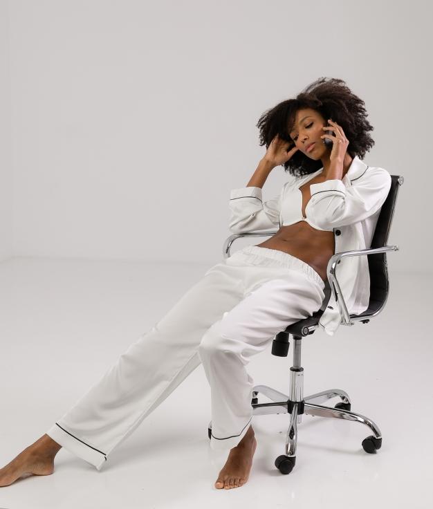 Pijama Zulena - Blanc