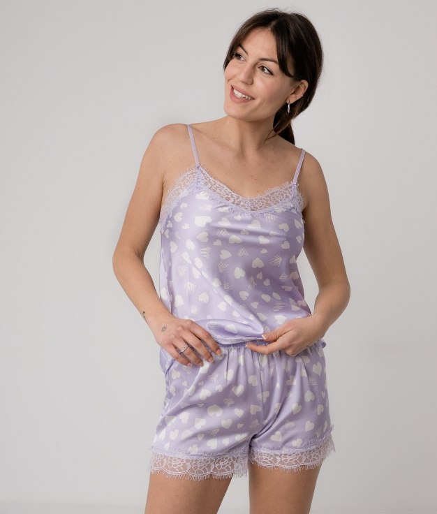 Pijama Gania - Lilás