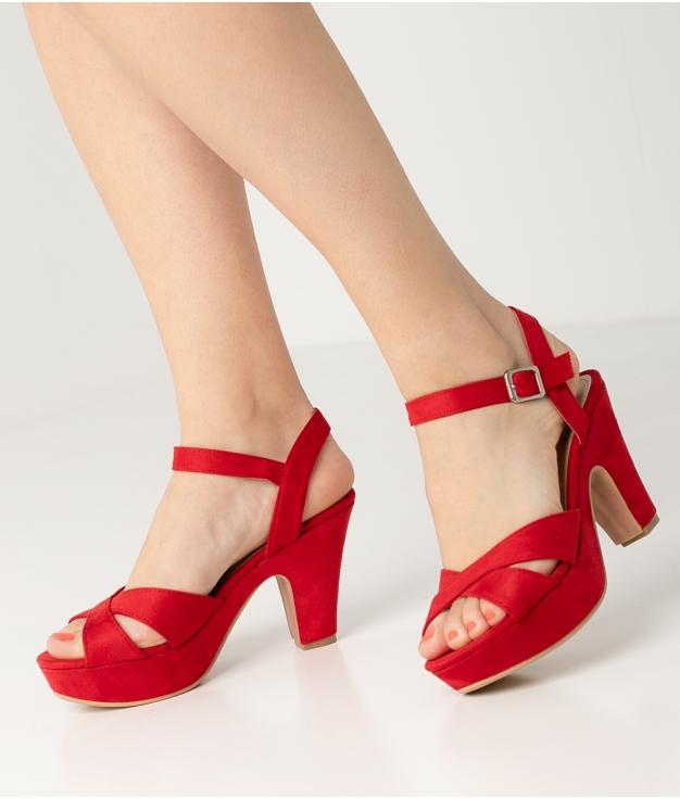 Sandalia de Tacón Cande - Rojo