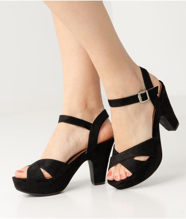 High Sandal Cande - Black
