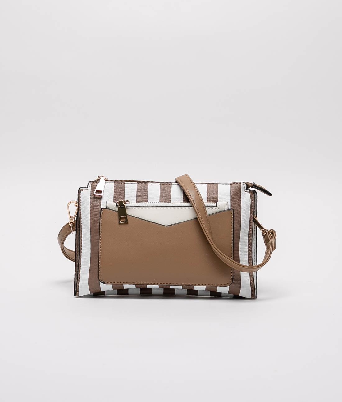 Jail Shoulder Bag - BROWN