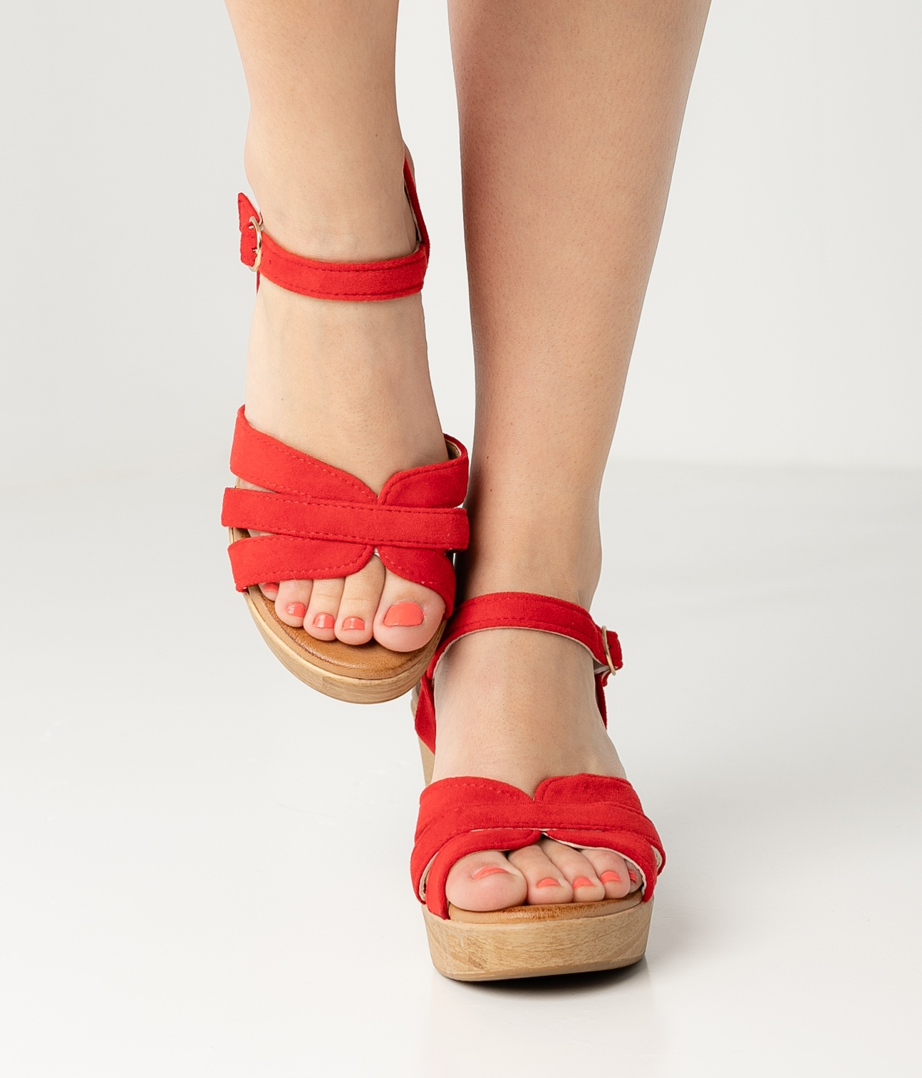High Sandal Polka - Red