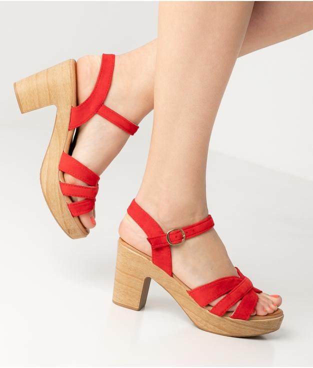High Sandal Polka - Red