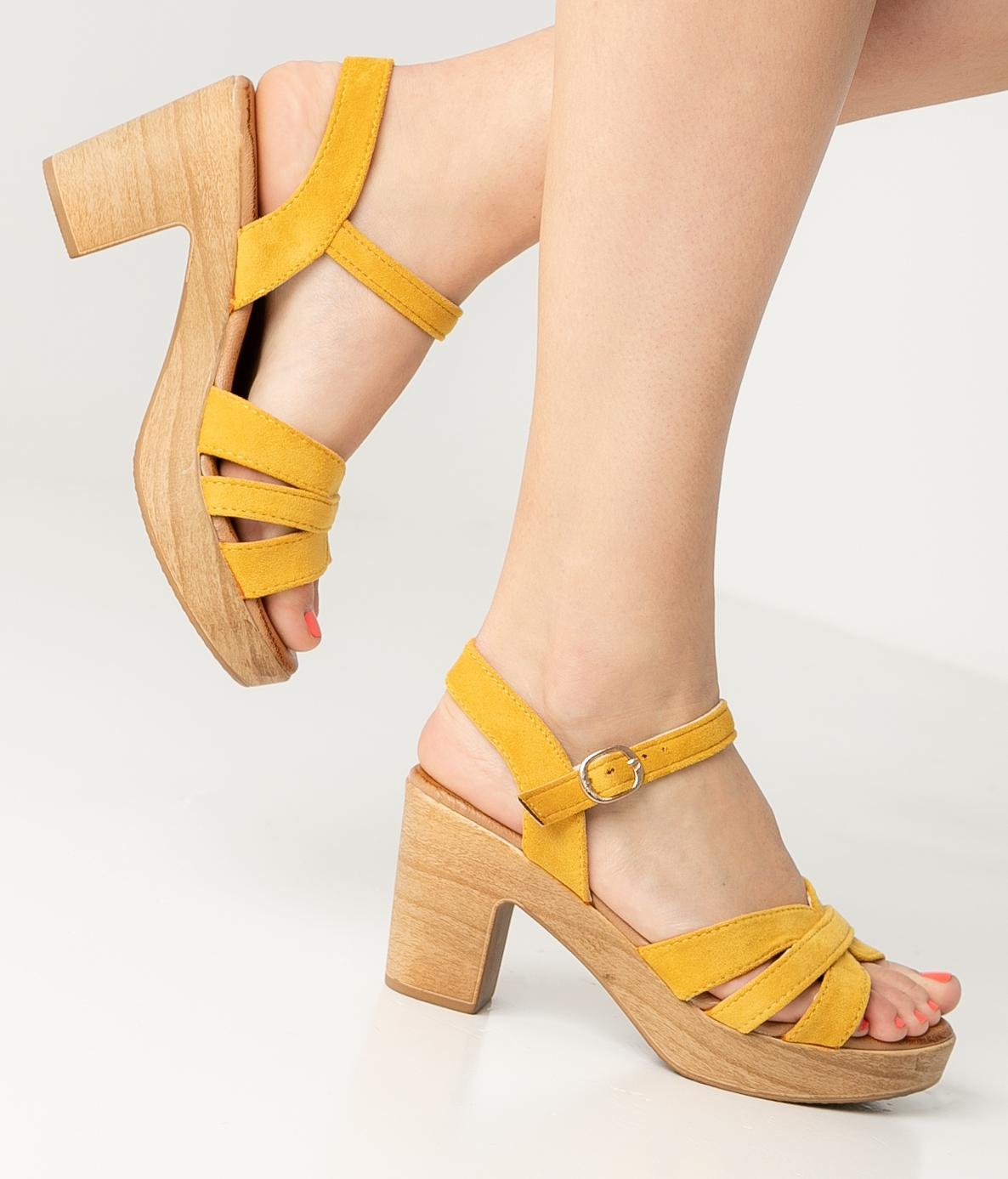 High Sandal Polka - Yellow
