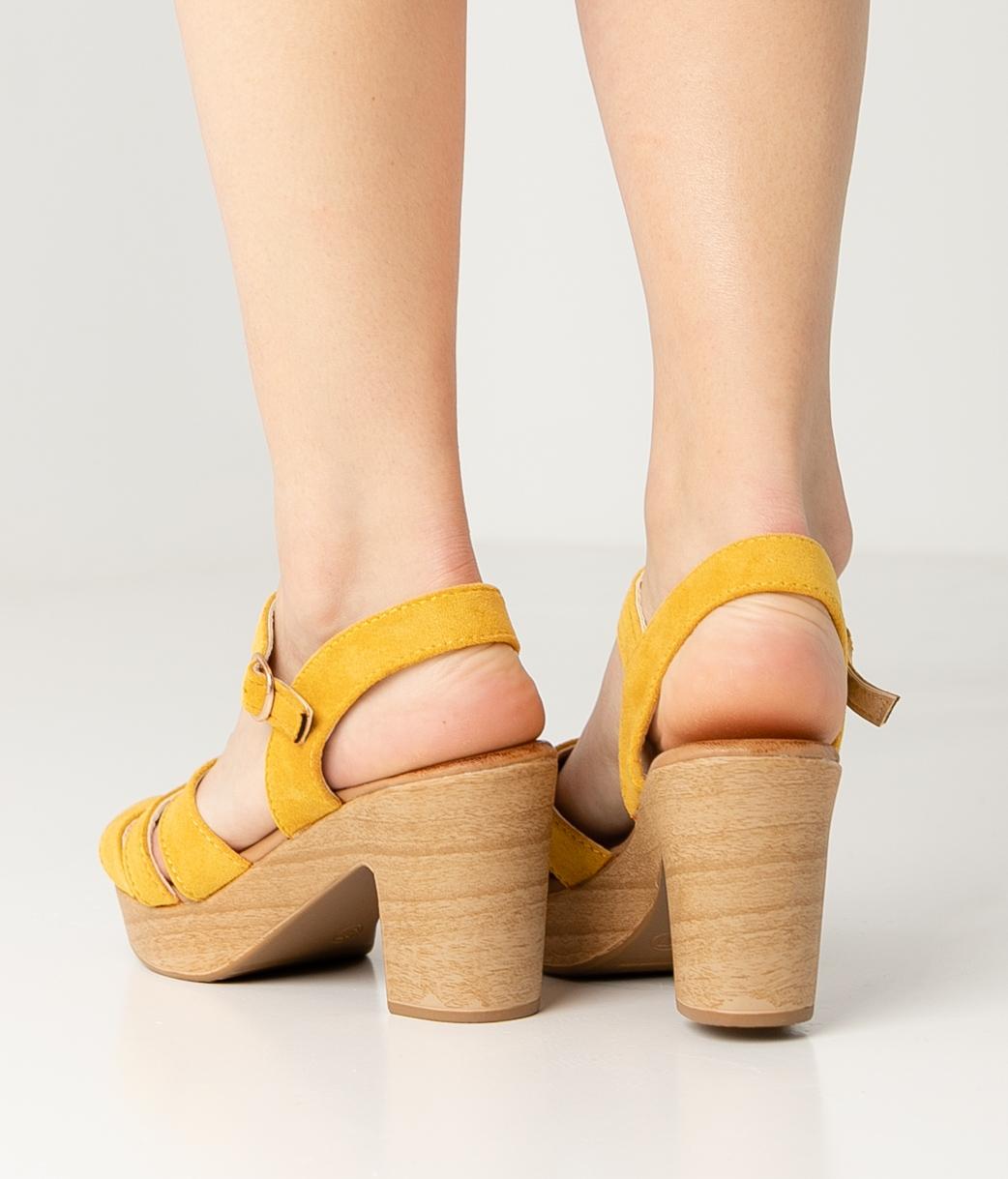 Sandale Talon Polka - Jaune