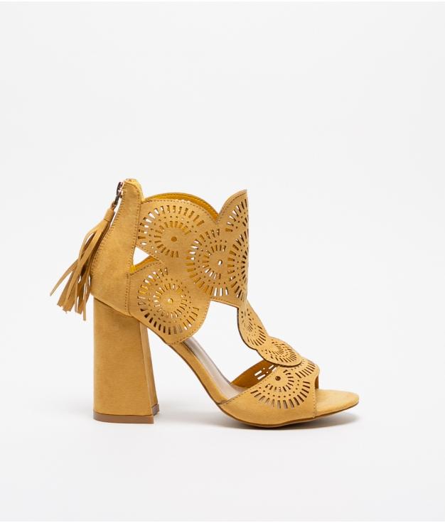 Sandalia de Tacón Mistery - Amarelo