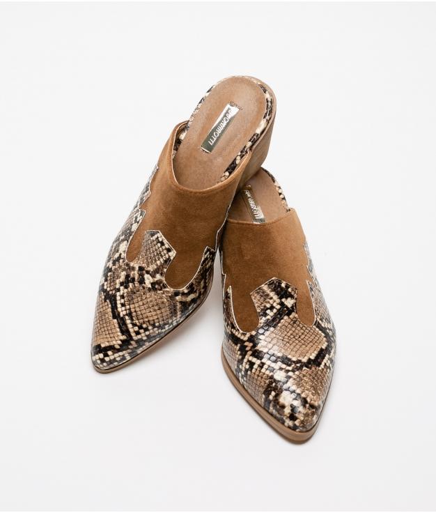 Sandalia de tacón Perpen - Camelo