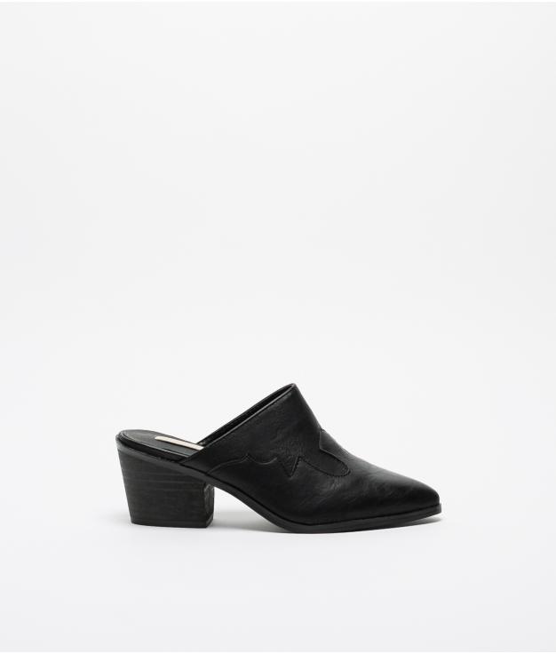 Sandalia de tacón Perpen - Negro