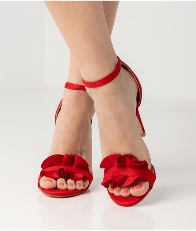 Sandalia de Tacón Triana - Rosso