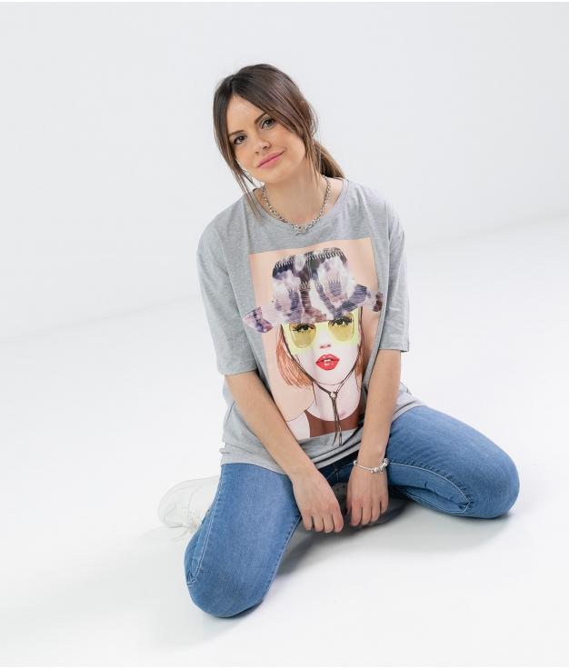 T-shirt Frinvu - Grey