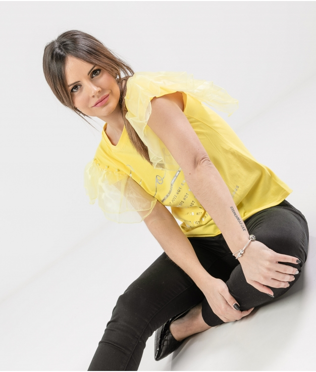 Camiseta Lalaysa - Jaune